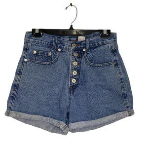 VINTAGE ILLEGAL JEANS blue high rise shorts 30